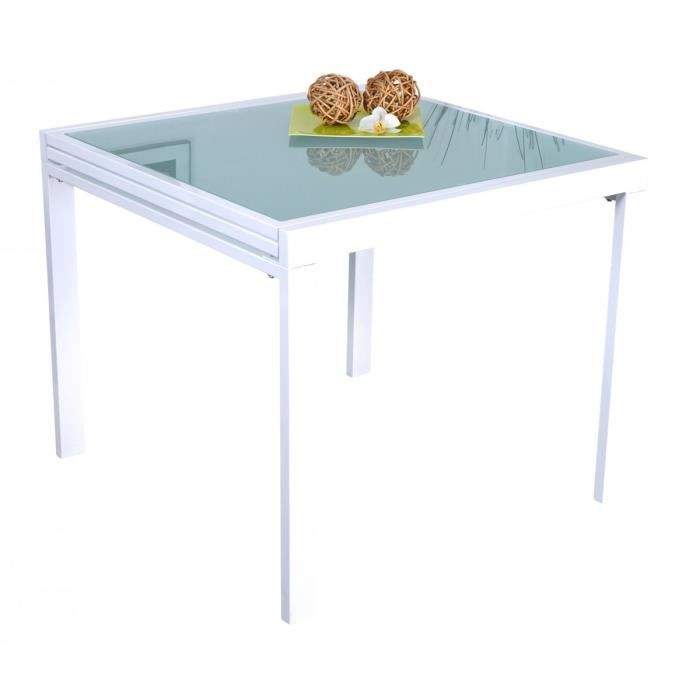 Nicol table extensible blanche achat vente table a - Table carree extensible blanche ...