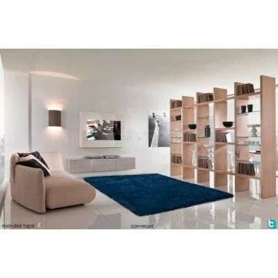 tapis shaggy bleu petrole 160x230cm achat vente tapis. Black Bedroom Furniture Sets. Home Design Ideas