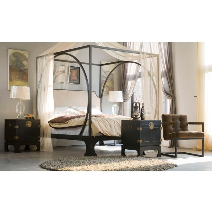 lit baldaquin heaven 180x200 en m tal massivum bon prix moncornerdeco. Black Bedroom Furniture Sets. Home Design Ideas