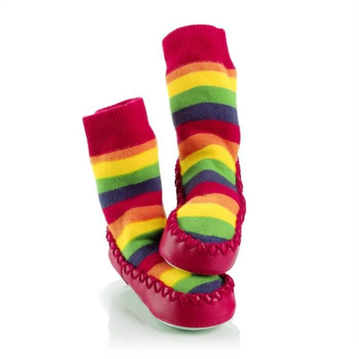 chaussons chaussettes mocc 39 ons arc en ciel achat vente chausson pantoufle 5060121090774. Black Bedroom Furniture Sets. Home Design Ideas