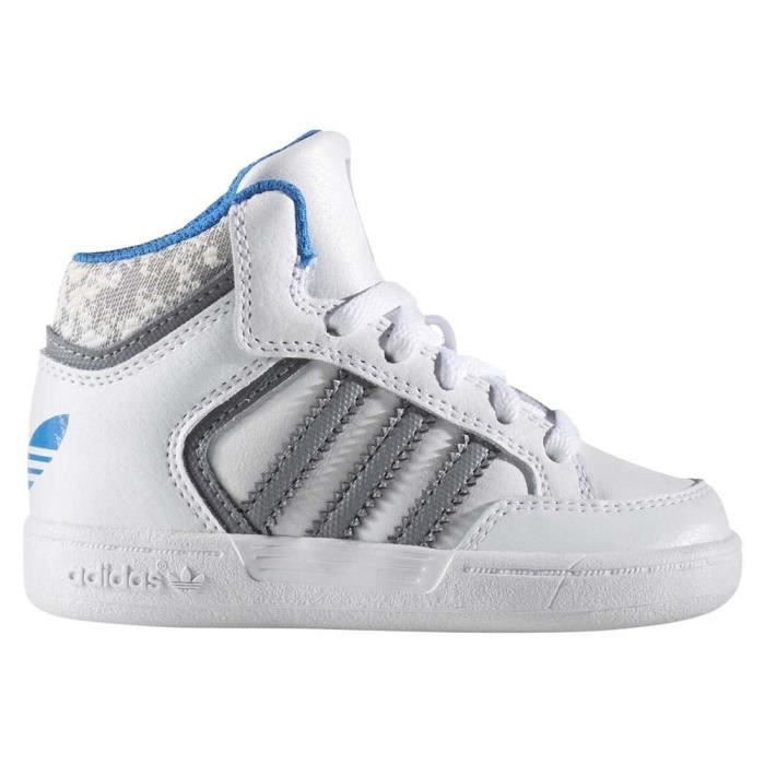 adidas originals baskets varial mid chaussures b b gar on blanc gris et bleu achat vente. Black Bedroom Furniture Sets. Home Design Ideas