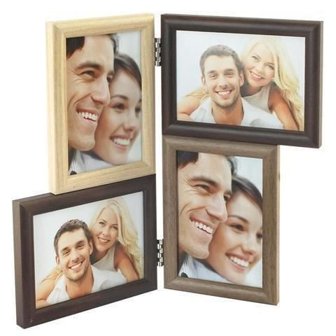 cadre photo multiple 4 photo 26x30 cm achat vente cadre photo cdiscount. Black Bedroom Furniture Sets. Home Design Ideas
