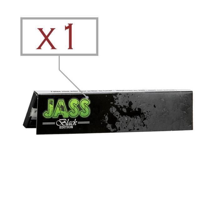 Lot de 3 box de Feuilles Slim Jass Black King Size soit 150 carnets de grandes