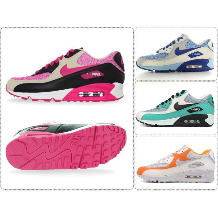 WMNS Nike Air Max 90 Rose/Noir Rose Rose/Noir - Cdiscount Chaussures