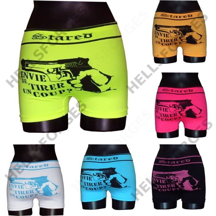 lot 6 boxers homme fluos microfibre jaune achat vente boxer shorty cdiscount. Black Bedroom Furniture Sets. Home Design Ideas