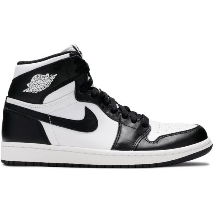 Baskets Nike Air Jordan 1 RETRO HIGH OG 'BLACK WHITE Blanc\noir ...