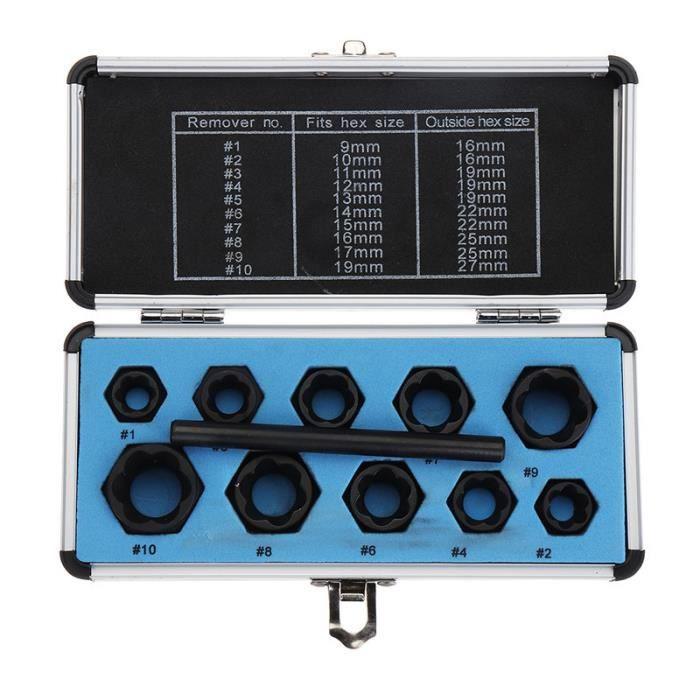 SODIAL R Filetage M8 acier inoxydable fixation ecrous hexagonaux Gland argent 8pcs