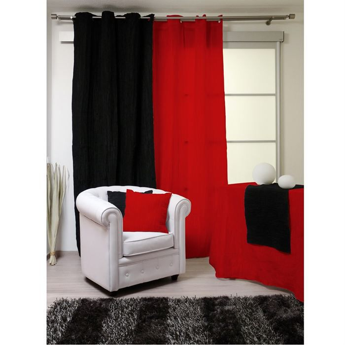 rideaux oeillets bambou rouge achat vente rideau. Black Bedroom Furniture Sets. Home Design Ideas