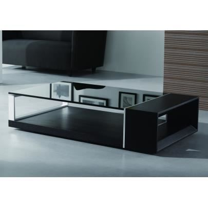 Table basse domi bois laqu noir achat vente table basse table basse do - Table basse noir bois ...