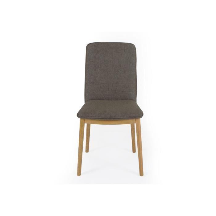 de Woodman Lot chaises salon en 2 de Adra marron chêne ybYf76gv