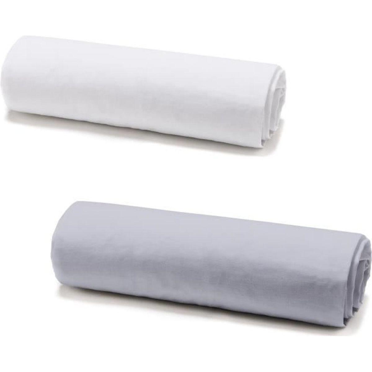 Medi Partners Drap-housse pour poussette 86 x 40 cm 100/% coton Motif h/érisson gris