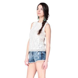 T-SHIRT NEW LOOK Top Blanc Femme