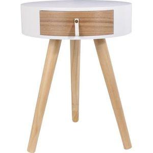 et blanc bois blanc et Table blanc Table chevet Table chevet bois chevet 3TFJclK1