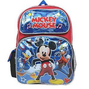 "Disney Mickey Mouse ALLOVER IMPRIMER 16/"" Garçons Large Sac D/'école"