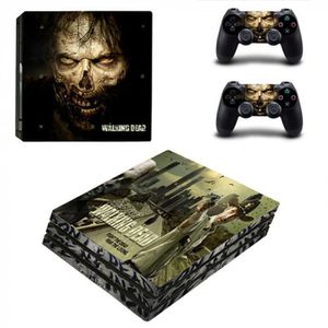 STICKER - SKIN CONSOLE The Walking Dead Ps4 Pro Peau Autocollant Pour Son
