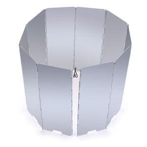 OUTILLAGE DE CAMPING Pare-Vent Pliable en Alliage d'aluminium, 10 Assie
