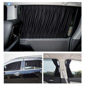 winomo 2pcs vitre lat/érale voiture c/ôt/é fen/être Protection UV Rideau Panneau Voiture des Durable fen/être Noir