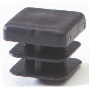 10 pcs capuchon pour poteau carr/é 80x80 marron plastique Bouchons tube Bouchons
