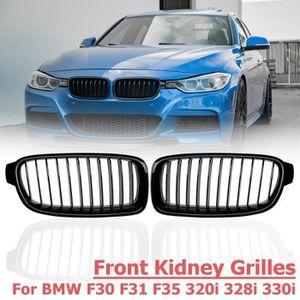8 Grilles M-Couleur Avant Grille Garniture Kidney Clip Couverture Grill Autocollants pour 3 Series F30 F31 F35 2013-2017 3 Pi/èces