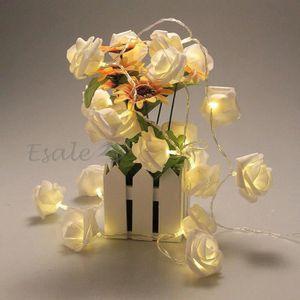 GUIRLANDE LUMINEUSE INT Guirlande Lumineuse Lampe 20 LEDs Fleur Blanc Chau