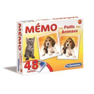MÉMORY CLEMENTONI Mémo - Les petits des Animaux - Jeu de