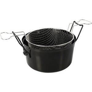 FRITEUSE Crealys Friteuse - 505629 - Ø28Cm Emaille Inductio
