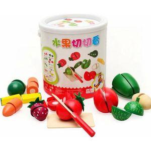 DINETTE - CUISINE Jouet en bois de coupe de cuisine de légume de fru
