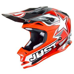 CASQUE MOTO SCOOTER Casque Cross Just1 J32 Moto X Rouge Taille XL