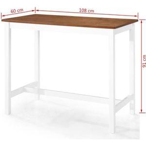 TABLE BASSE KKmoon Table de Bar Table de Cuisine Bois Massif 1