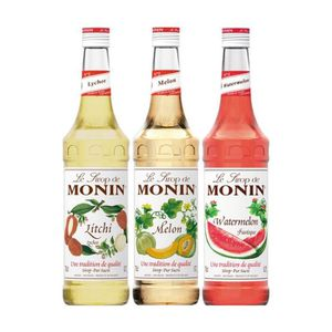 SIROP Assortiment Monin Douceurs (pack 3x70cl)