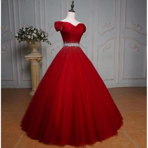 ROBE DE CÉRÉMONIE OFELI® Luxe Rouge Robe de Bal De Mariage de Planch