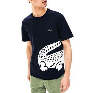 T-SHIRT T-Shirt Lacoste Crocodile Oversized Marine Homme