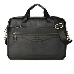 ATTACHÉ-CASE OLALI® Noir -Véritable Porte-Documents En Cuir Hom