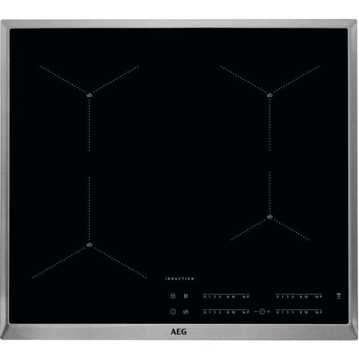 AEG IAE64411XB, Intégré, Plaque avec zone à induction, Verre, Noir, 1400 W, Rond