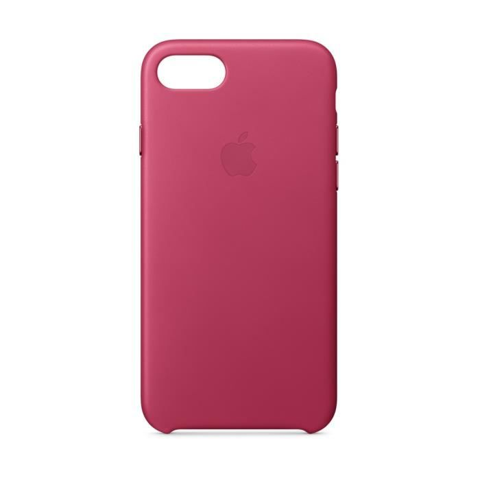 iPhone 8/7 Leather Case - Pink Fuchsia