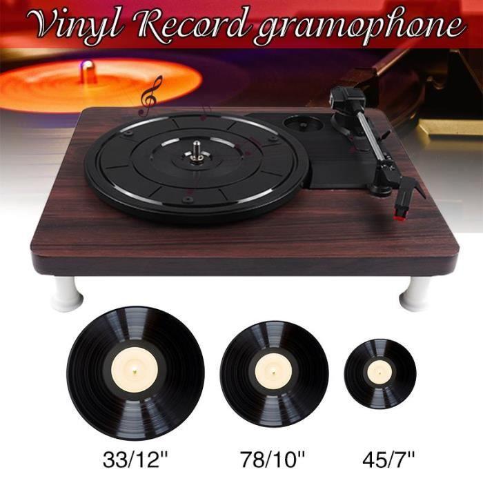Platine Vinyle,33 45 78 tr-min LP lecteur de disque ancien Gramophone disque vinyle Audio RCA R-L 3.5mm sortie USB DC 5V couleur