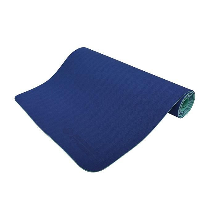 Schildkröt Fitness Tapis de Yoga 4 mm Bicolore Sac de Transport, 960067 yogm Toise, Marine-Menthe, 180 x 61 x 0,4 CM