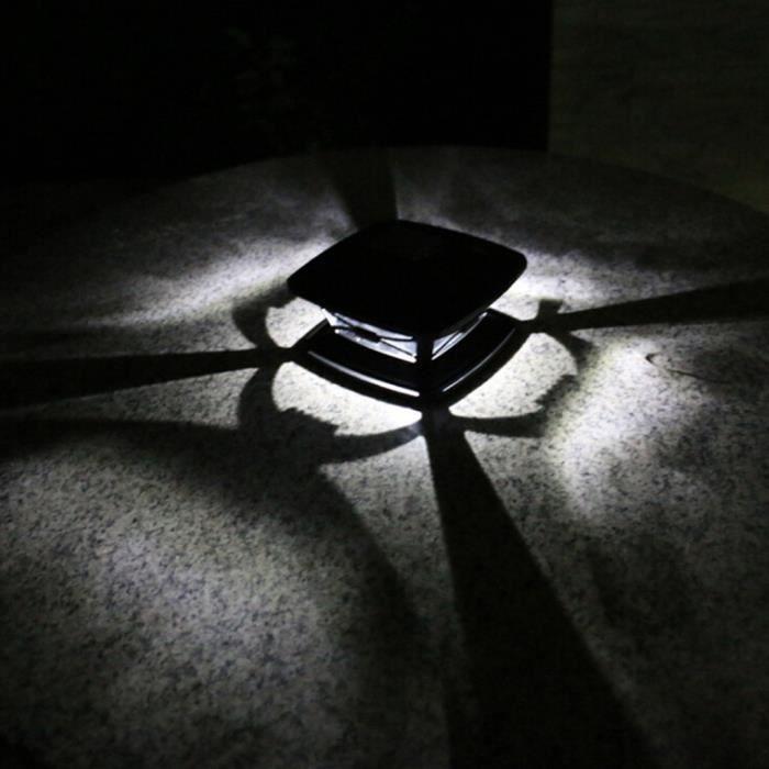 BANDE LED Lumière solaire extérieure de poteau de décoration de jardin Lumière de poteau en bois de jardin tyr533