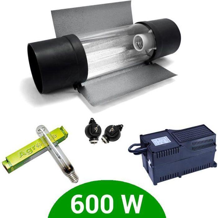 Kit lampe 600W HPS Agrolite + Agrolite class 2 + Cooltube Protube