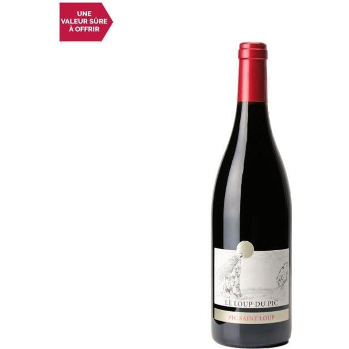 Château Puech Haut Pic Saint-Loup Le loup du Pic Rouge 2019 - 75cl - Vin AOC Rouge du Languedoc - Roussillon - Cépages Syrah, Grenac