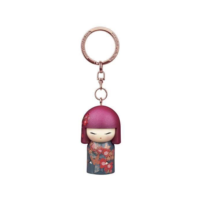 Porte clé Kokeshi Kimmidoll 5cm Chou - Butterfly VERSION ANGLAISE