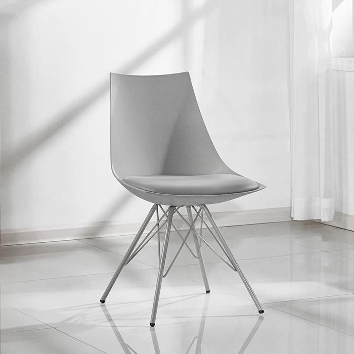 Chaise design grise - Eif - DESIGNETSAMAISON