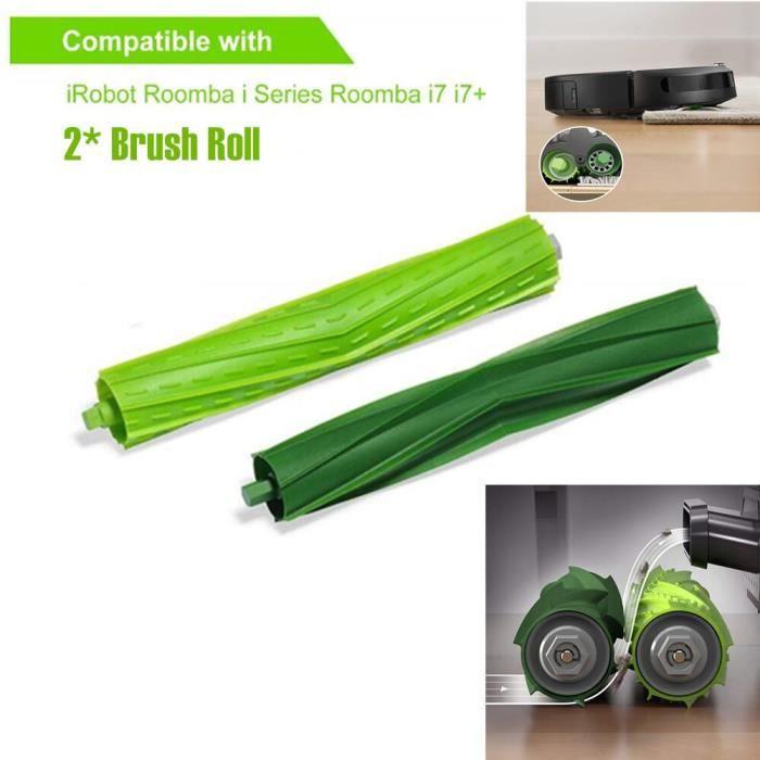 Rouleau de brosse de remplacement pour aspirateur Robot iRobot Roomba i7 E5 E6 série I, Kit d'accessoire Brush Roll 2pcs -LP4312