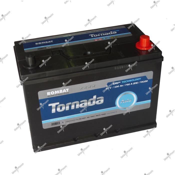 Batterie Tornada TA100 12v 100ah 7500A 305x179x222mm pole + à droite