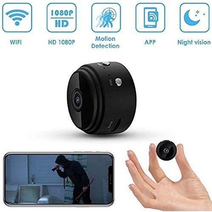 Mini caméras Espion cachées, caméra de sécurité à Domicile sans Fil HD 1080p, enregistreur vidéo intérieur et extérieur WiFi Spy Cam