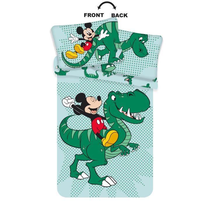 Parure de lit bébé Mickey Dinosaure coton