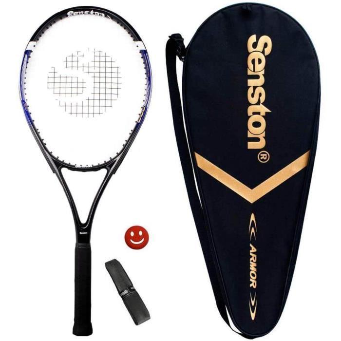 Raquette de Tennis 27'', Raquette de Tennis Adulte, y Compris Sac de Tennis et Surgrip et Amortisseur de Vibrations,300