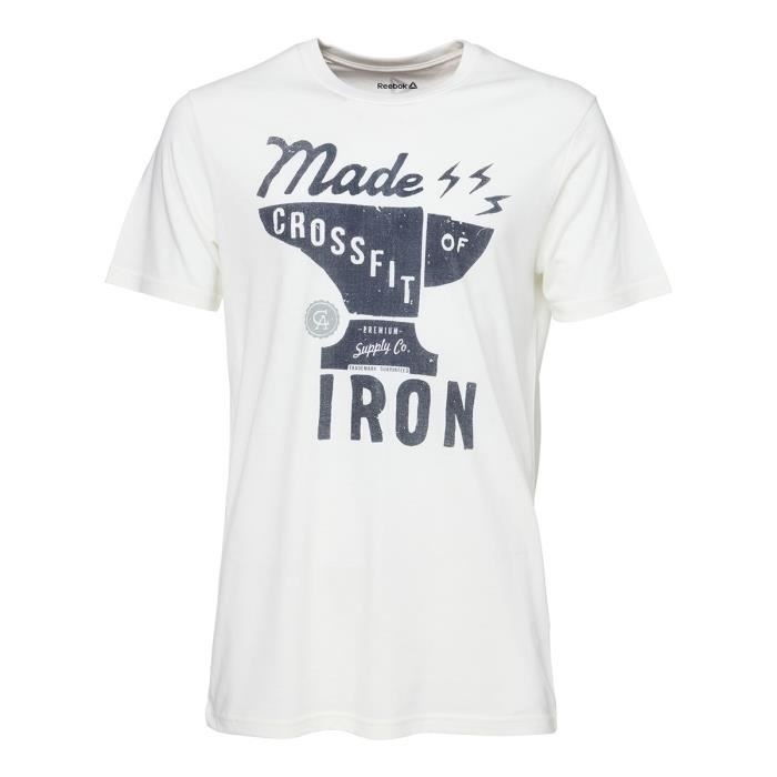 REEBOK T-shirt RCF Graphic T4 Homme - Blanc