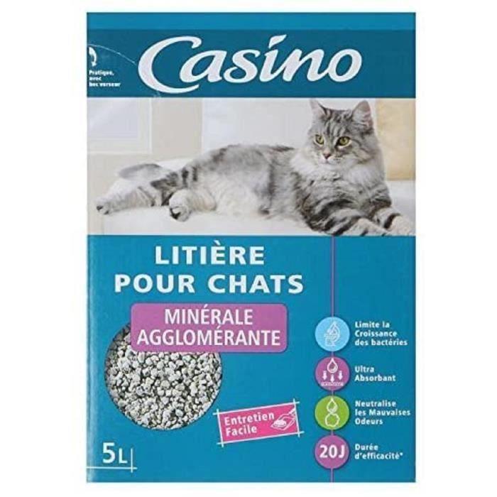 [LOT DE 3] CASINO Litière agglomerante - Pour chat - 5L