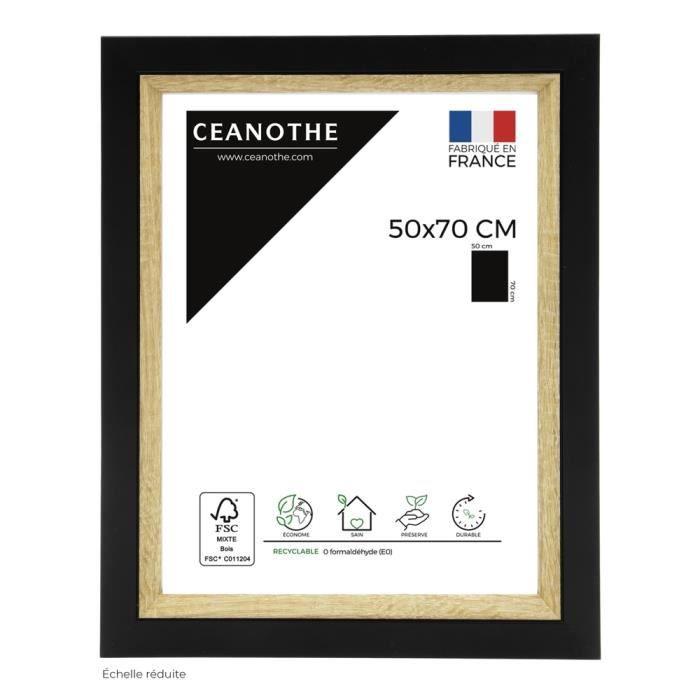 Cadre photo Actual bois noir 50x70 cm